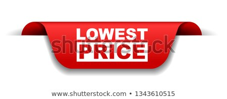 lowest price in red banner Stock photo © marinini