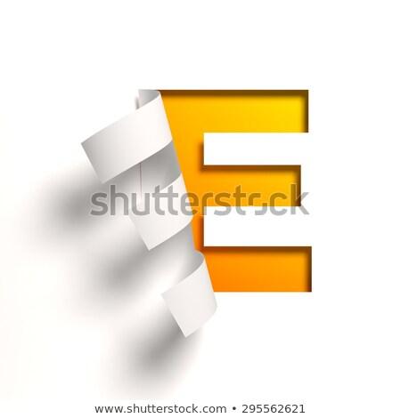 e · betű · matrica · piros · papír · absztrakt · felirat - stock fotó © maxmitzu
