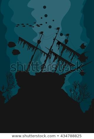 Navire épave Honduras Caraïbes côte Photo stock © MojoJojoFoto