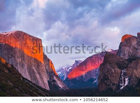 Río parque nacional de yosemite vista occidental cohete meseta Foto stock © meinzahn