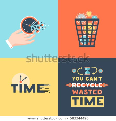 Stop wasting time concept Stock photo © Ansonstock