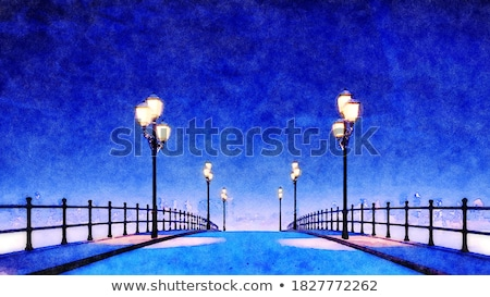 Painted with light walkway. Stock photo © DonLand