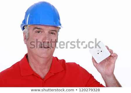 Constructor continental poder enchufe pared trabajo Foto stock © photography33