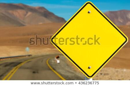 traffic sign in desert stock photo © hofmeester