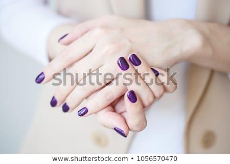 Purple nail polish macro Stock photo © moses