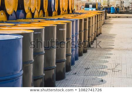 Yağ namlu fabrika doku Stok fotoğraf © Lekchangply