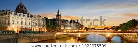 ver · Torre · Eiffel · Paris · França · Arco · do · Triunfo - foto stock © photocreo
