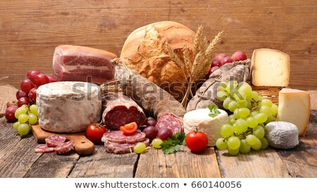 Worst geitenkaas achtergrond boerderij vlees sandwich Stockfoto © M-studio