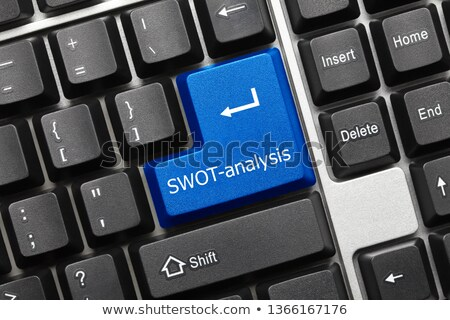 keyboard with swot button stock photo © tashatuvango