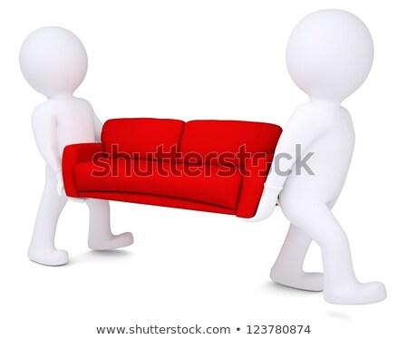 dois · branco · o · homem · 3d · sessão · laptops · isolado - foto stock © cherezoff
