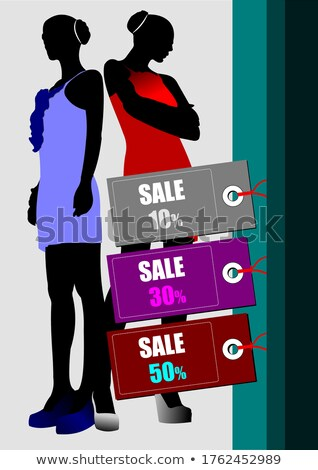 Few sale images. Vector illustration for designers. Shopping Stock photo © leonido