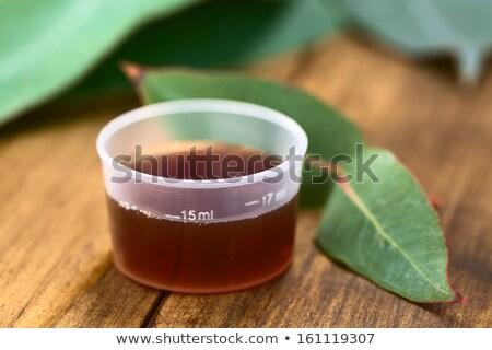 Tosse xarope fresco folhas raso Foto stock © ildi