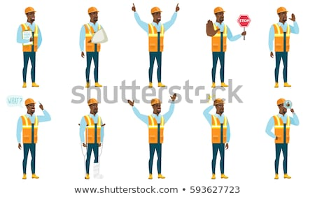 Construction worker/builder on crutches Stock photo © Kirill_M