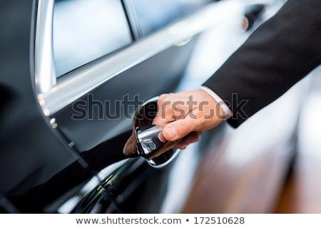 Stock fotó: Férfi · kéz · nyitás · autó · ajtó · közelkép