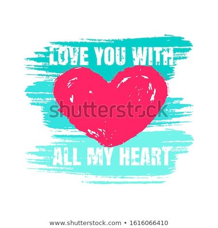 Printable tshirt graphic- Valentine Hearts Stock photo © shawlinmohd