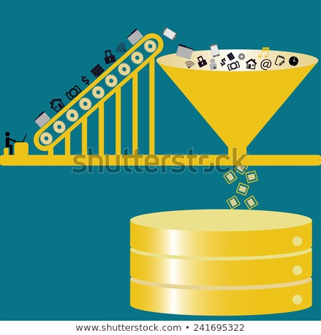 big data concept vintage design stock photo © tashatuvango