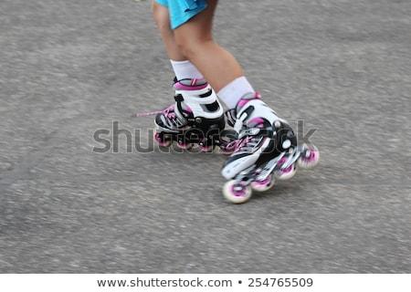 階 孤立した 白 少女 セクシー 脚 ストックフォト © elvinstar