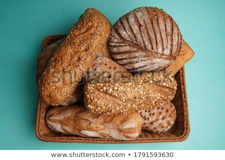 Szeletel francia kenyér izolált fehér kenyér makró Stock fotó © natika