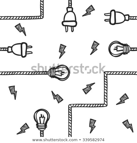 Seamless bolt and wire background Stock photo © andromeda