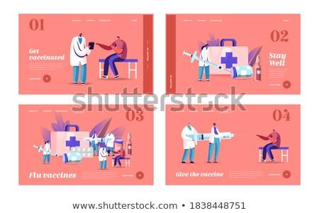 szett · sebészi · tiszta · lakosztály · műtét · gyógyszer - stock fotó © oleksandro