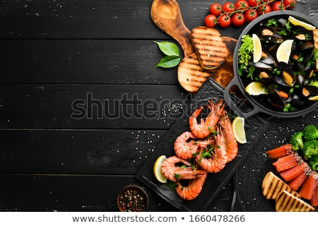seafood, shrimp and mussel Stock photo © M-studio