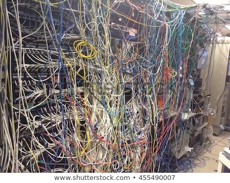 Dağınık ethernet kablolar ağ dışarı geri Stok fotoğraf © silkenphotography