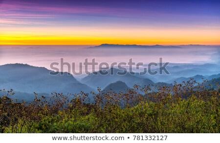 Viewpoint Doi Ang Khang mountains in Chiang Mai province of Thai Stock photo © Yongkiet