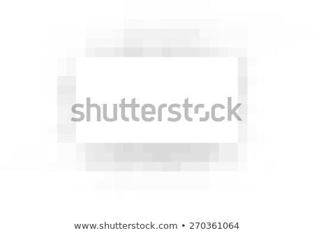 Pixel négyszögletes fehér repülőgép szürke árnyék Stock fotó © Melvin07
