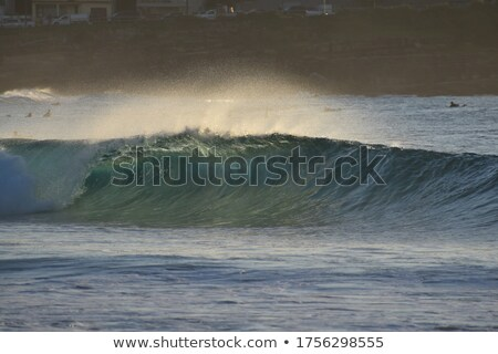 crisp blue waves splashing Stock photo © morrbyte