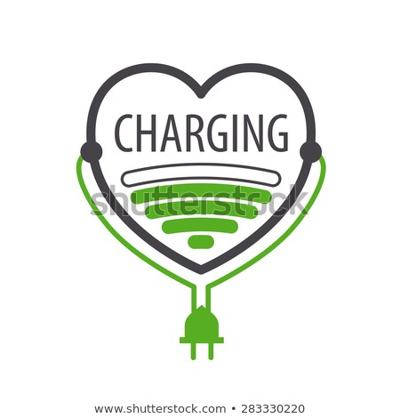 vector logo charger in the form of heart Stock photo © butenkow