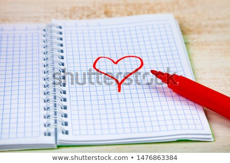 Paper sheet, pencil and magnifier Stock photo © Nobilior