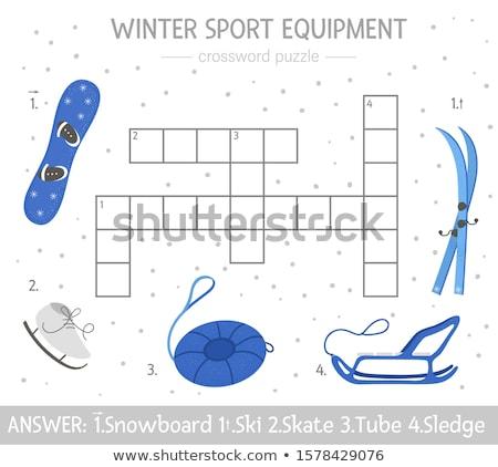 Sportu biały słowo niebieski 3d zespołu Zdjęcia stock © tashatuvango