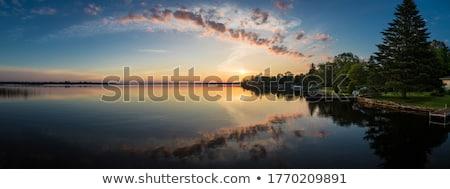 озеро небе зеленая трава лет пейзаж природы Сток-фото © tycoon