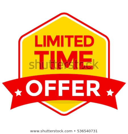 Limited Time Offer Yellow Vector Icon Design Stock photo © rizwanali3d