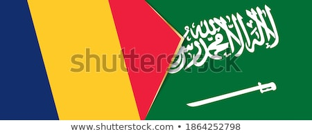 Saudi Arabia and Chad Flags Stock photo © Istanbul2009