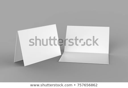 Folded blank paper booklet on white Stock photo © cherezoff