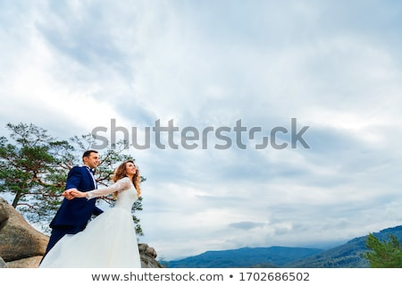 fiance with the bride they stand Stock photo © Paha_L