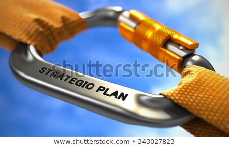 Plan stratégique chrome orange cordes mise au point sélective fond Photo stock © tashatuvango