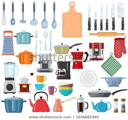 kitchen glove with pan Stock photo © shutswis