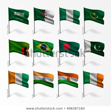 Saudi Arabia and Niger Flags Stock photo © Istanbul2009