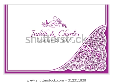 Romantica wedding annuncio bianco pizzo frame Foto d'archivio © liliwhite