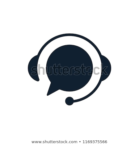 call · center · ícone · assistente · fone · isolado · branco - foto stock © wad