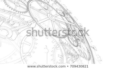 内部 · クロック · 時間 · 人間 · 眼 · ピース - ストックフォト © janaka