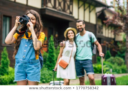 Agradable fotos familia vacaciones mujer Foto stock © d13