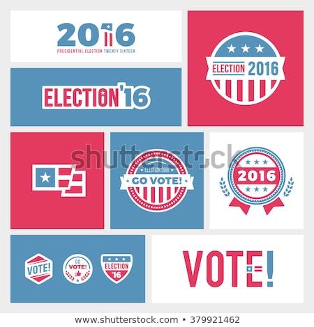 Elezioni 2016 emblema grafica americano badge Foto d'archivio © mikemcd