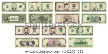 Para notlar dolar beyaz grup finanse Stok fotoğraf © dezign56