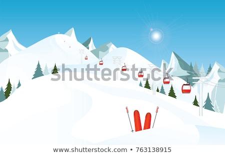 turystyka · zimą · góry · kobieta · śniegu · sportu - zdjęcia stock © elnur