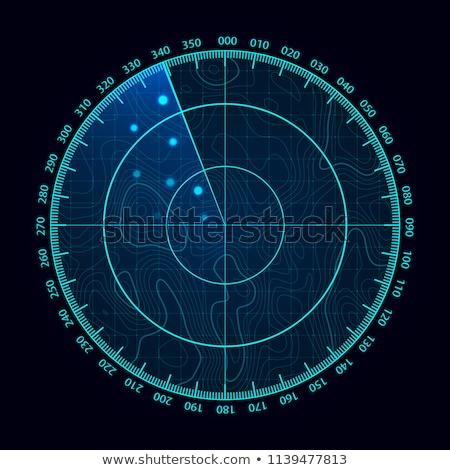 Radar képernyő nagyszerű kép technológia repülőgép Stock fotó © clearviewstock