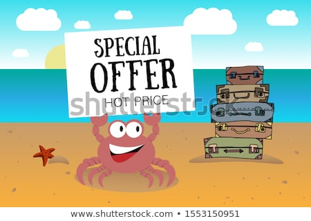 Granchio valigia illustrazione estate viaggio isola Foto d'archivio © adrenalina