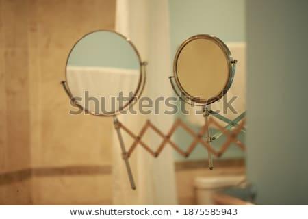 salon · konkretnych · ściany · wystrój · wnętrz · pomysł · 3D - zdjęcia stock © photocreo